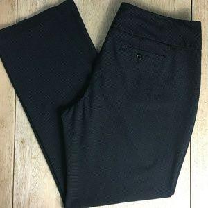 Elle Micro Grid Pattern Stretch Career Wear Pants